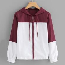 Zipper Hooded Coat
