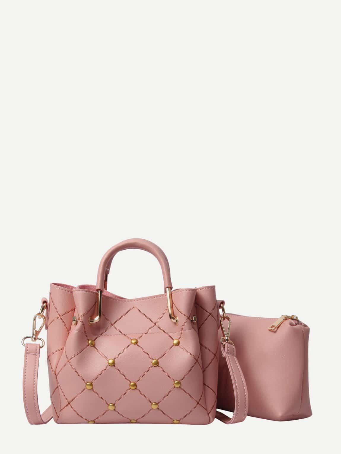 Шипованная сумка с внутренной сумкой, null, SheIn  - купить со скидкой