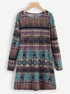 Tunic Print Tribal Dress