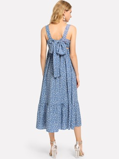 Knot Ruffle Hem Dress