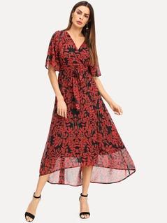 Botanical Print Flowy Dress
