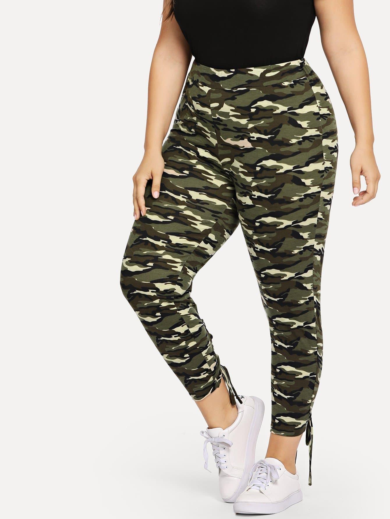 Plus Wide Waistband Camo Print Leggings wide waist camo print leggings