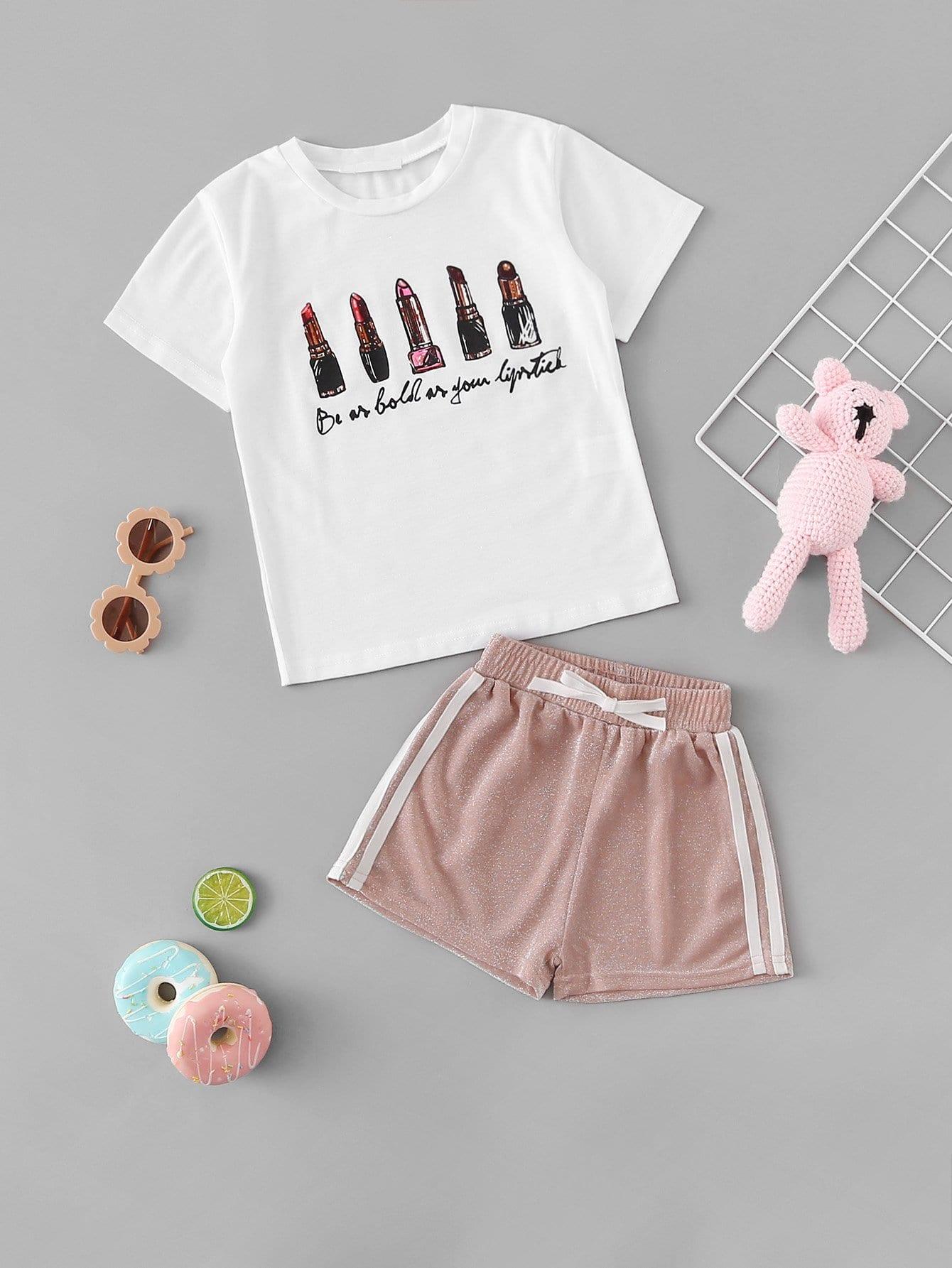 Купить Туфли-шорты для девочек и мультфильмов для девочек, null, SheIn