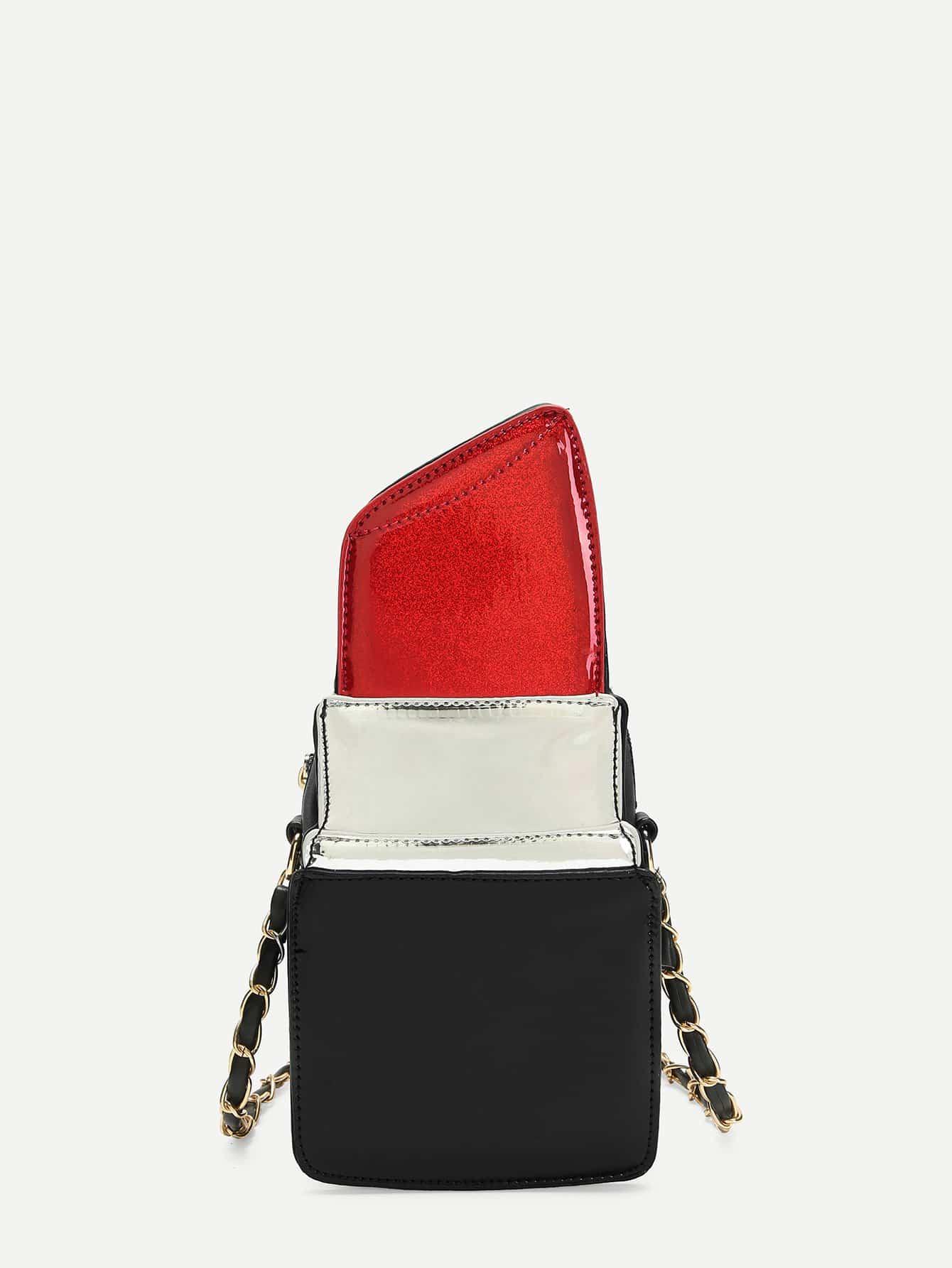 Rouge À Lèvres En Forme De Sac Bandoulière Sac De Chaîne