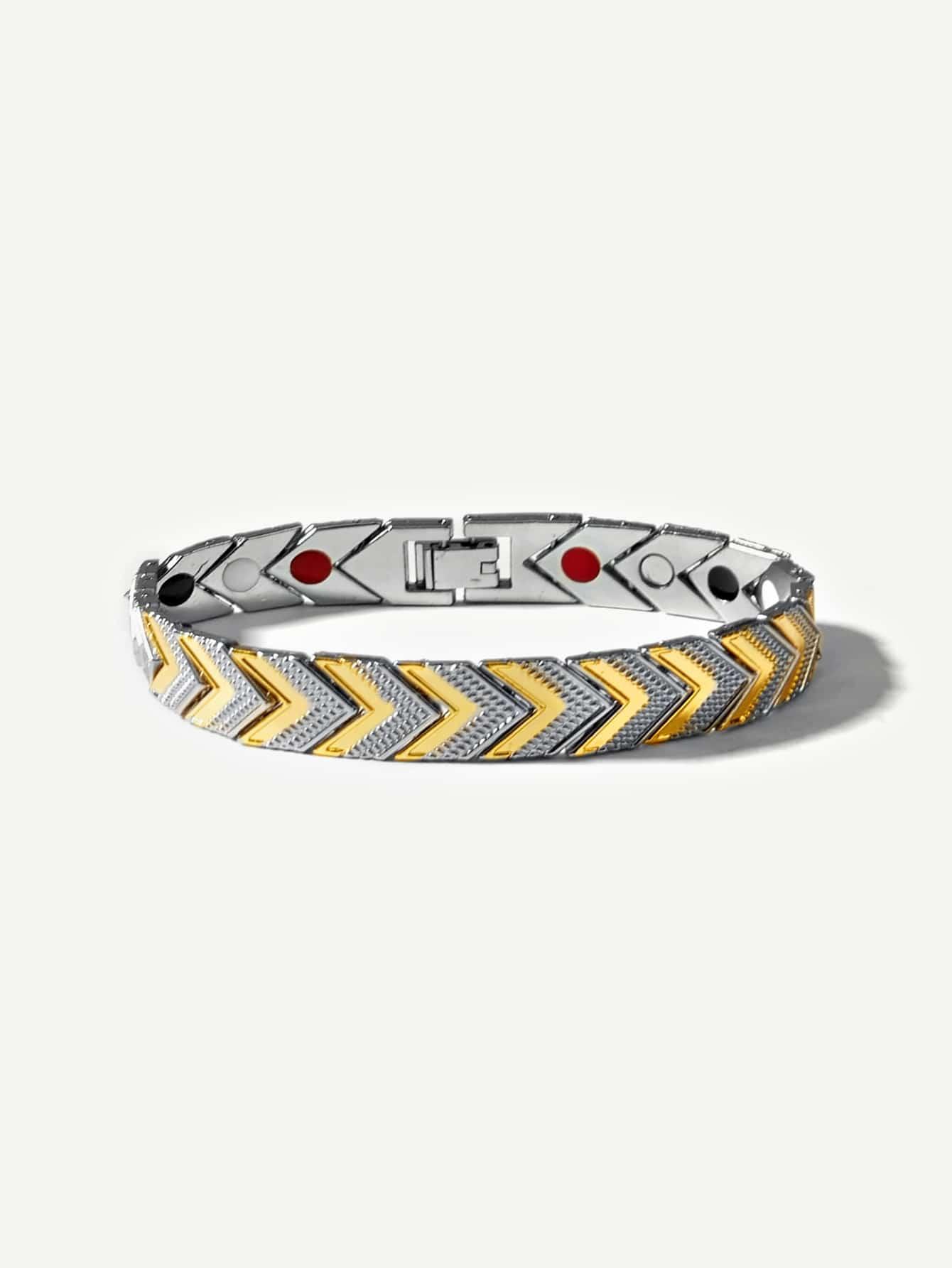 Männer Zwei Ton Armband mit Pfeil Design