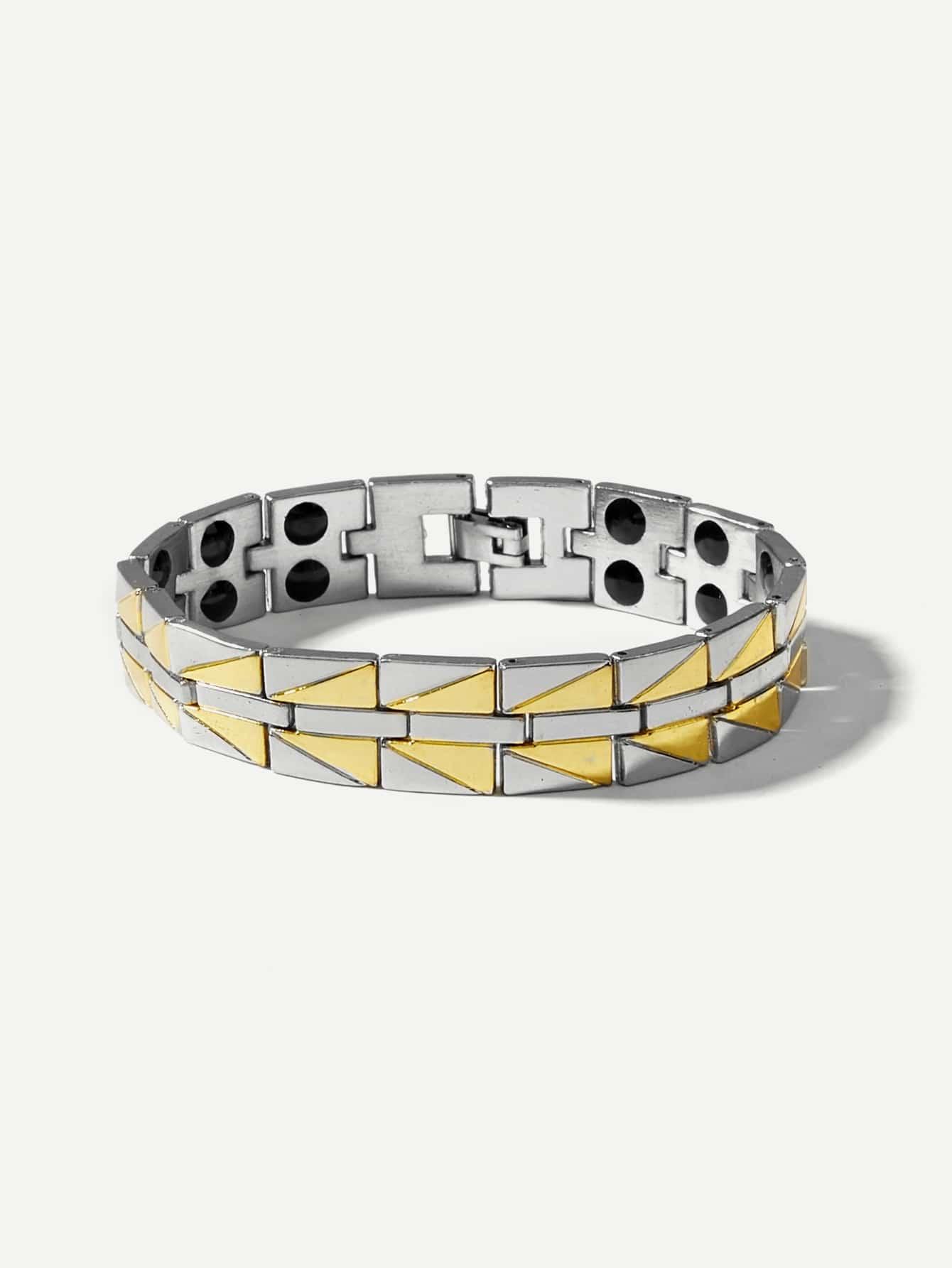 Männer Magnetische Armbänder mit Dreieck Detail