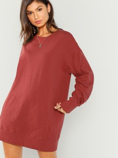 Long Sleeve Terry Mini Dress