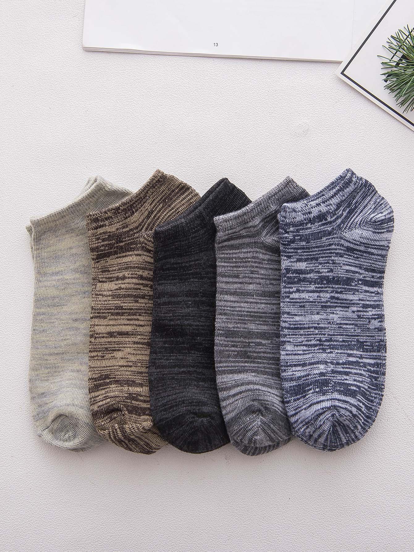 Men Space Dye Ankle Socks 5pairs