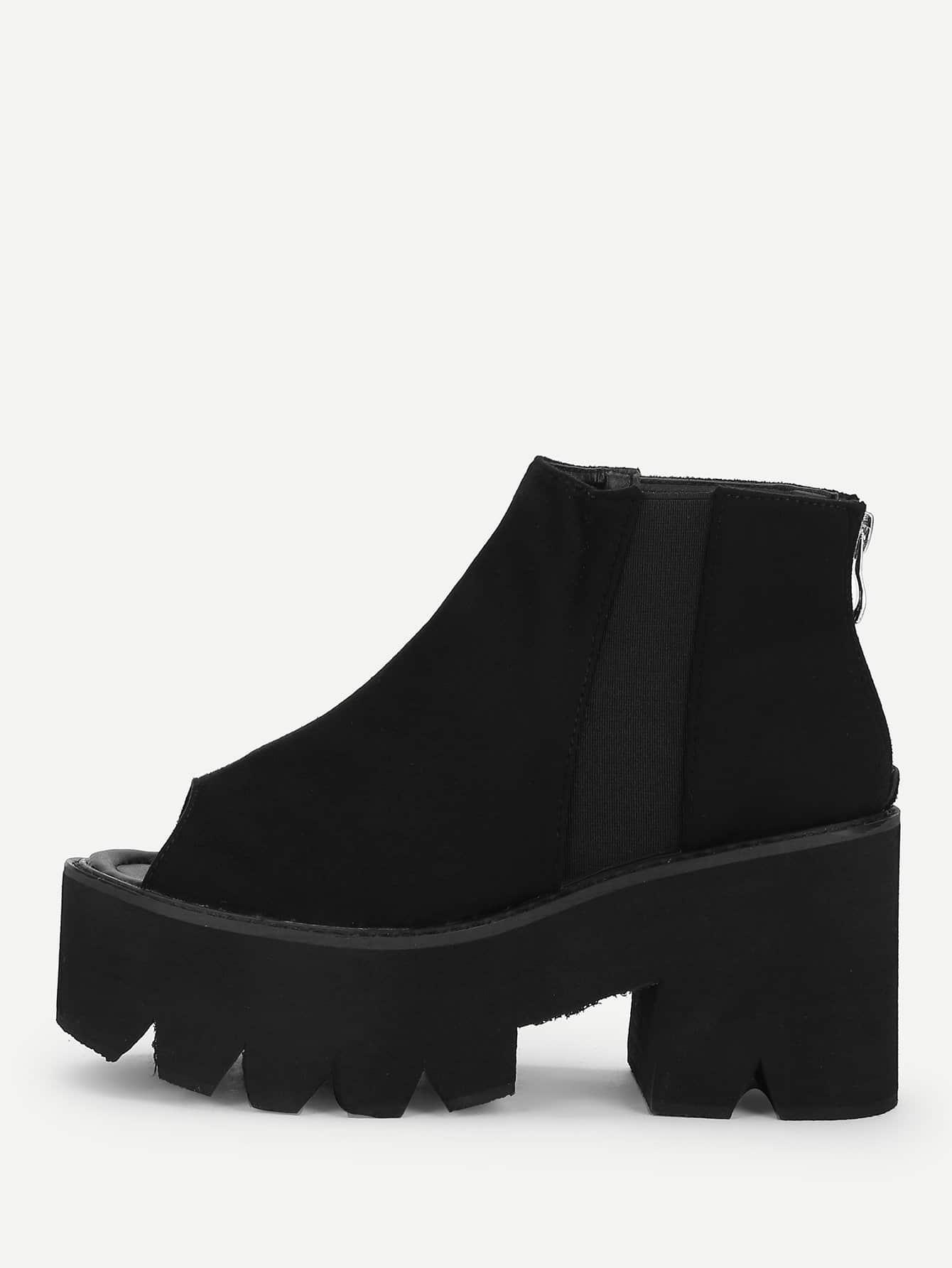 Купить Сапоги на высоких каблуках и с открытой пальцы ноги, null, SheIn