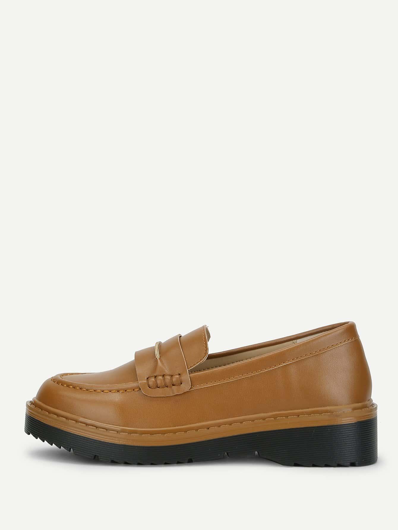 Купить Туфли на плоской подошве с украшением стёжки, null, SheIn