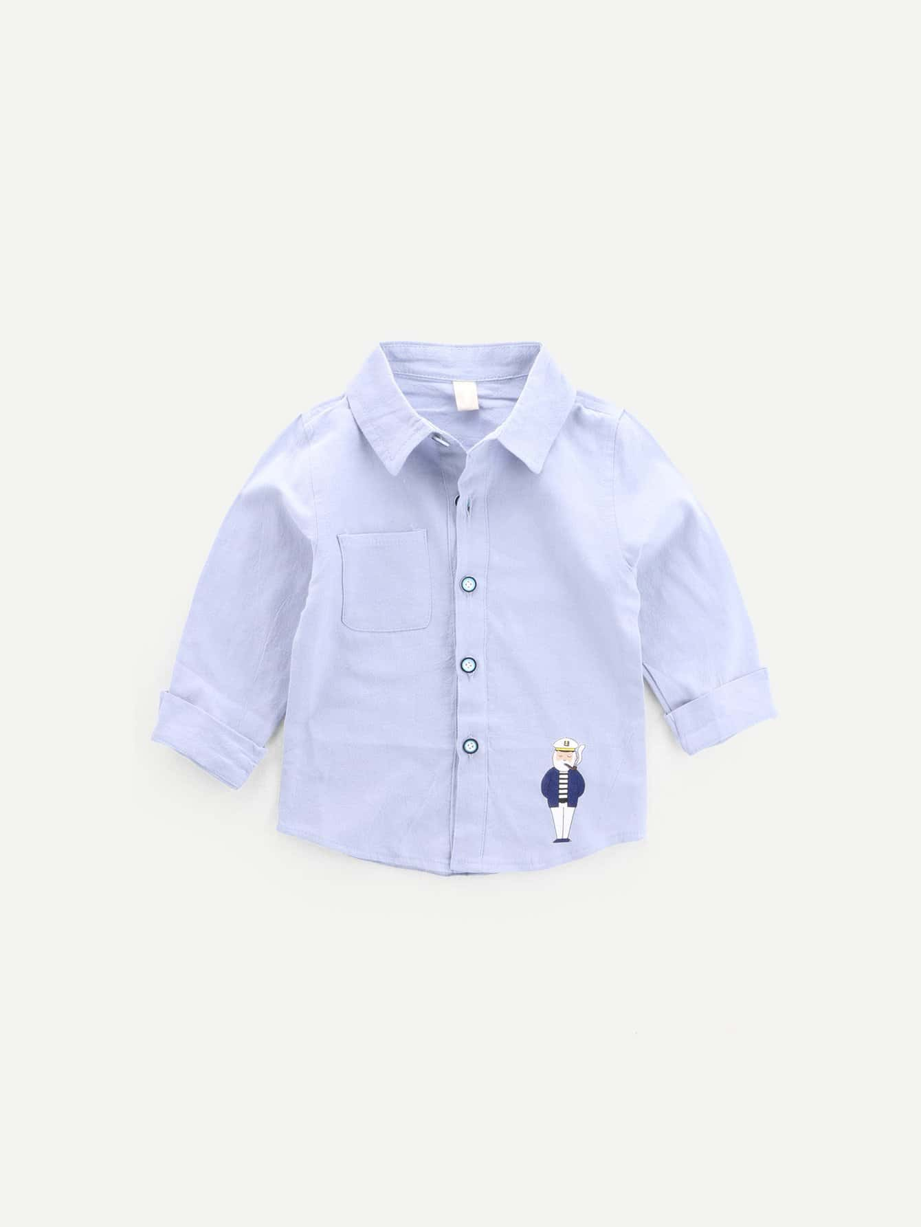 Boys Cartoon Print Shirt megavox ws 06a25
