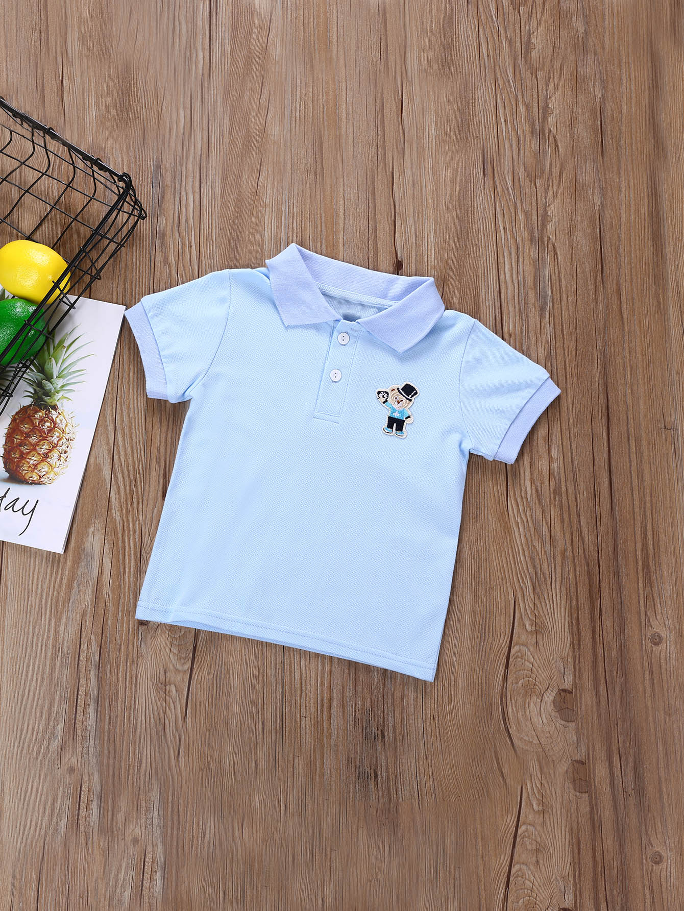 Boys Patched Detail Polo Shirt