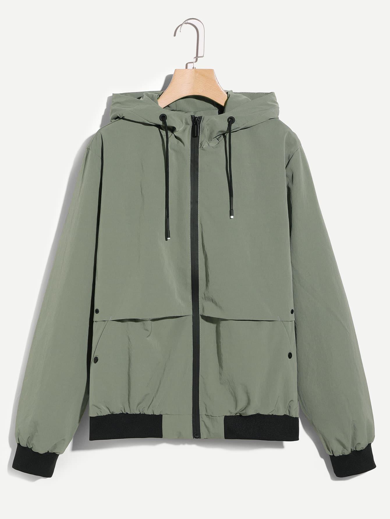 Männer Einfache Jacke mit Kapuze