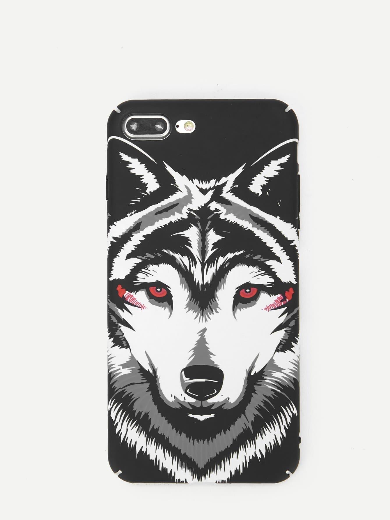 Купить Светящийся корпус сотового телефона для iPhone с рисунком волки, null, SheIn