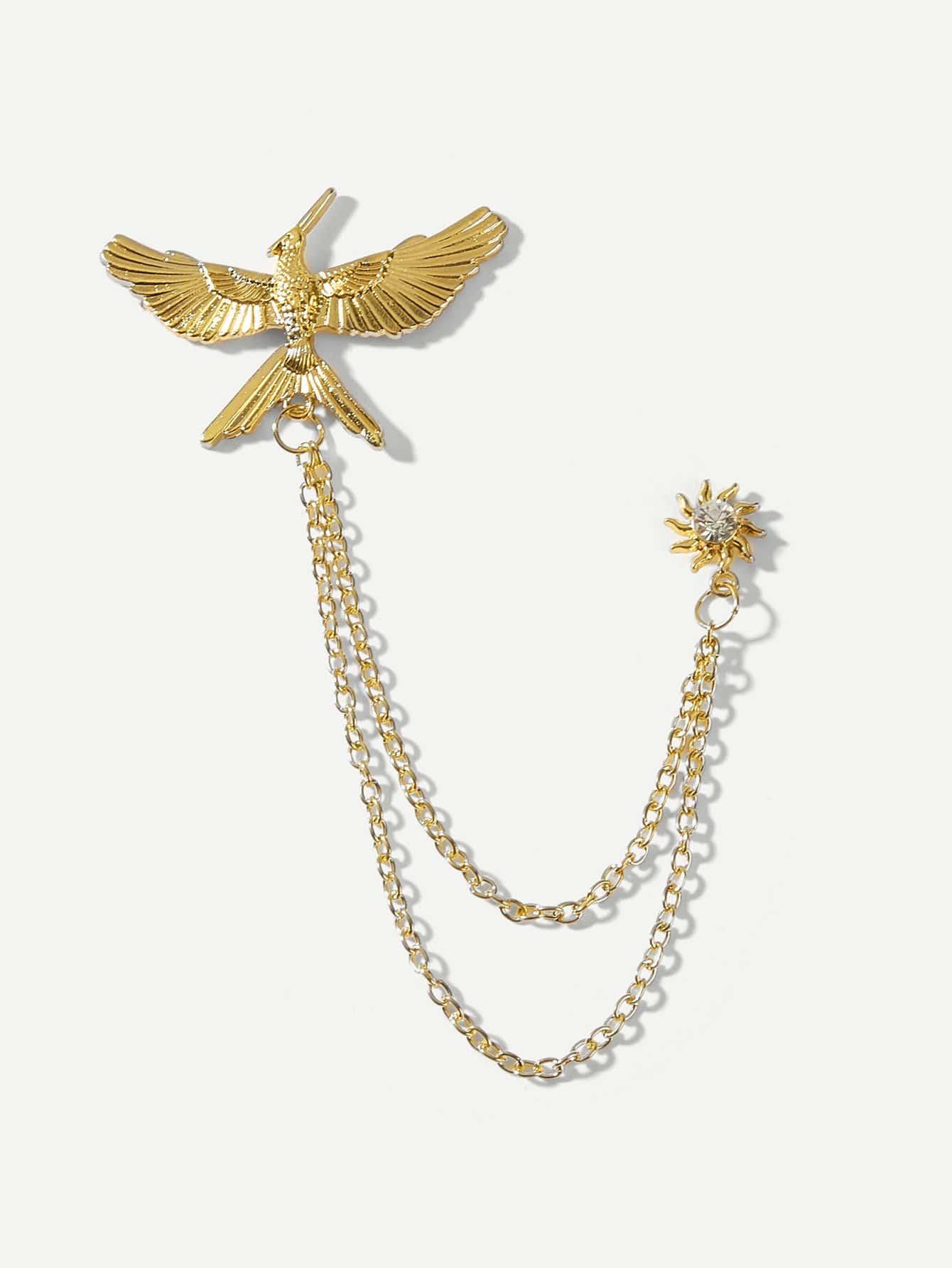 Купить Цепной штифт воротника в форме птицы для мужчины, null, SheIn