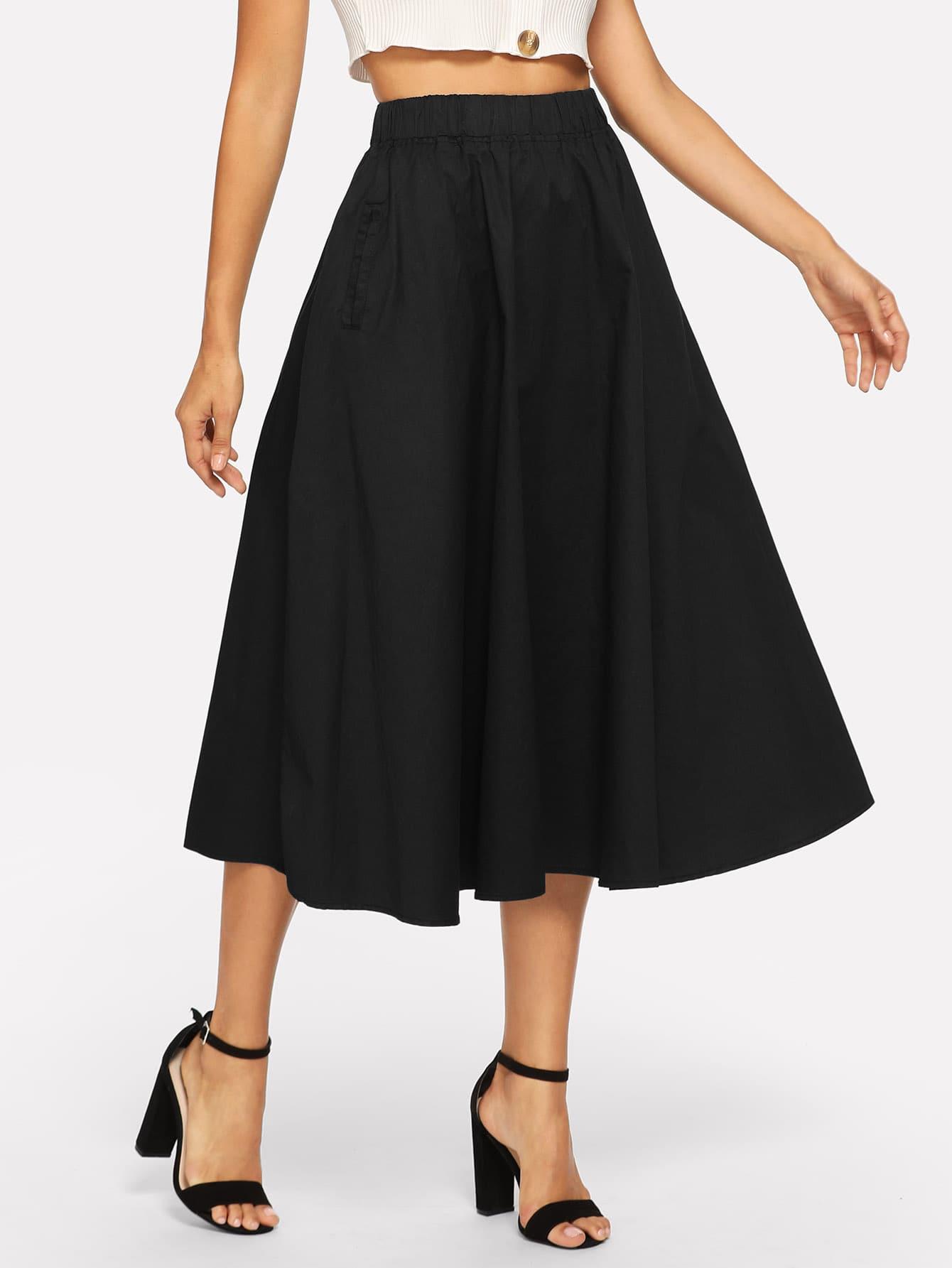 Купить Простая юбка, Juliana, SheIn