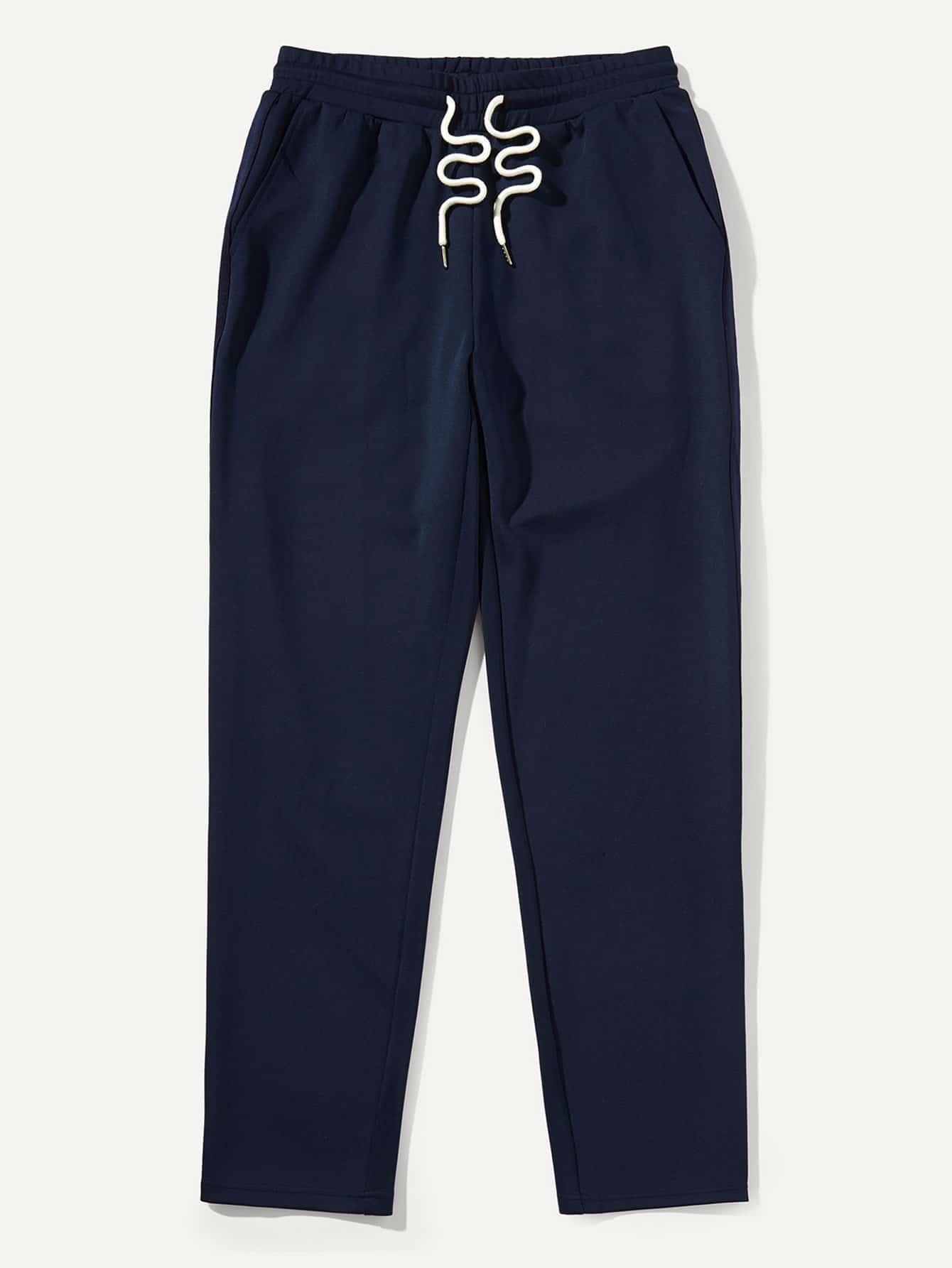 Купить Спортивные брюки с басоном эластичным для мужчины, null, SheIn
