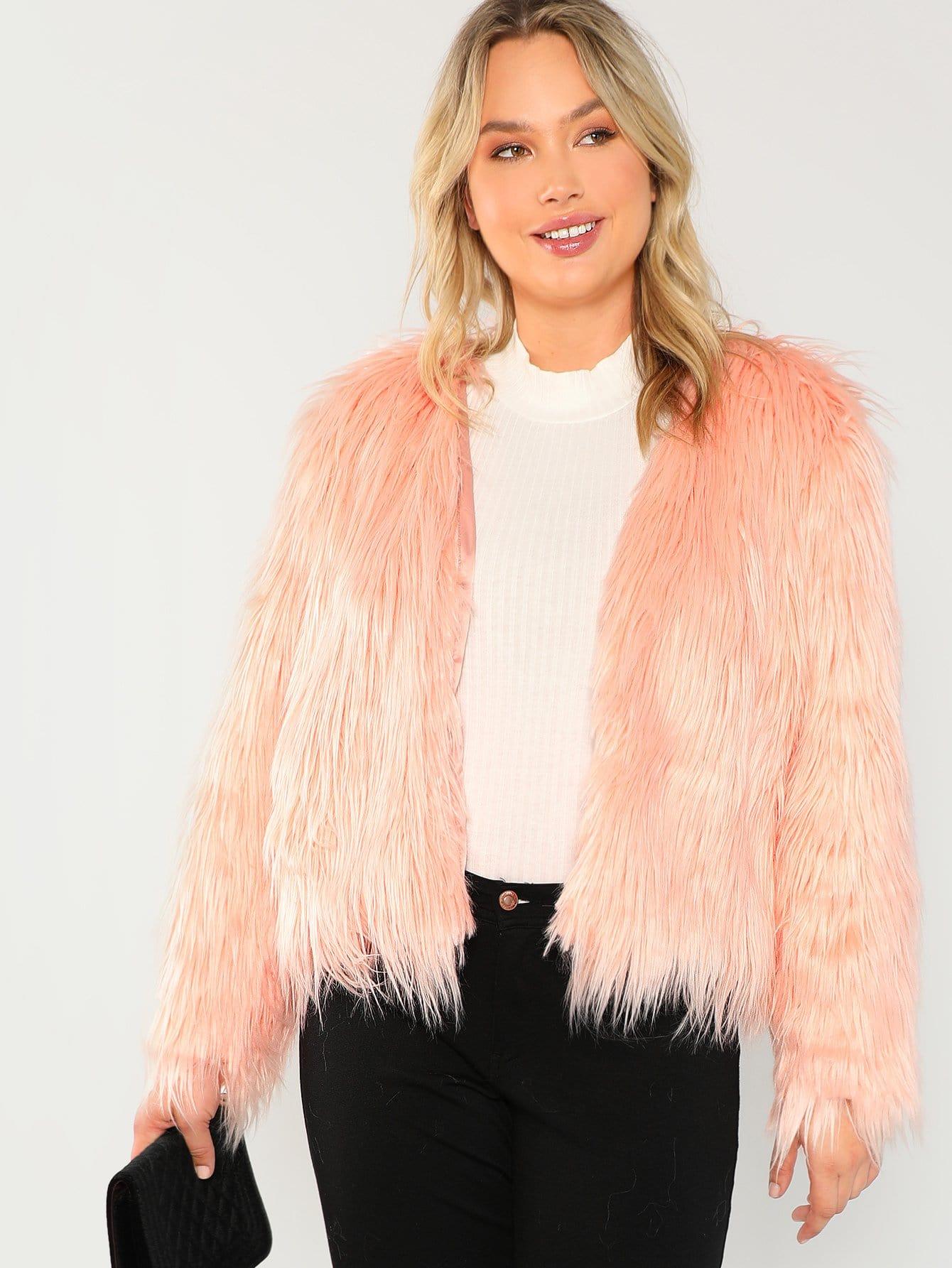 Купить Большое открытое пальто из искусственных кож, Sydney Ness, SheIn