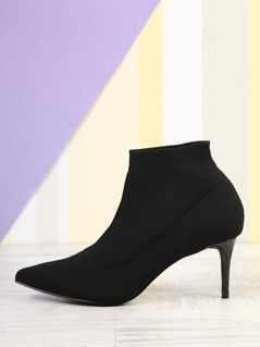 Pointed Ankle Sock Bootie
