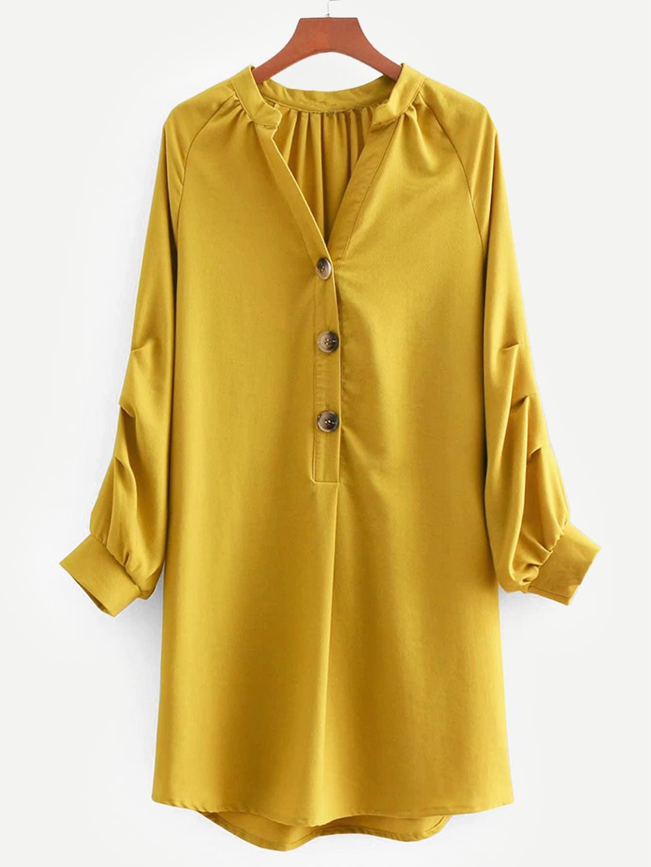 Купить Платье-рубашка с рукав-регланами, null, SheIn