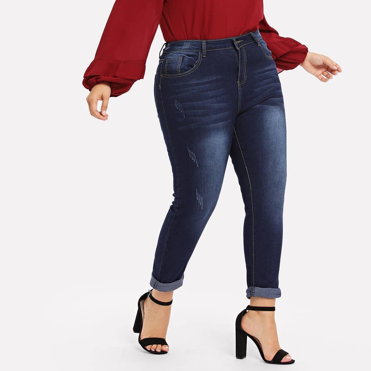 Plus Gebleekte Skinny Jeans