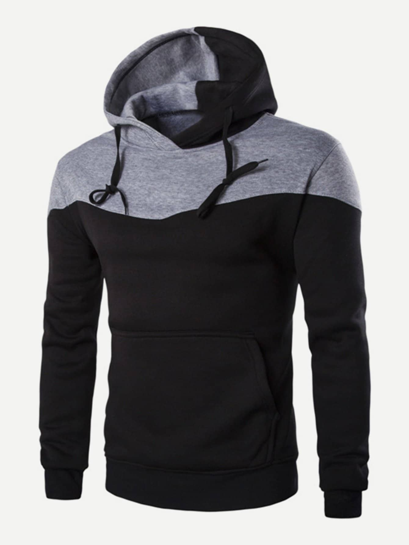 Men Color Block Hooded Sweatshirt