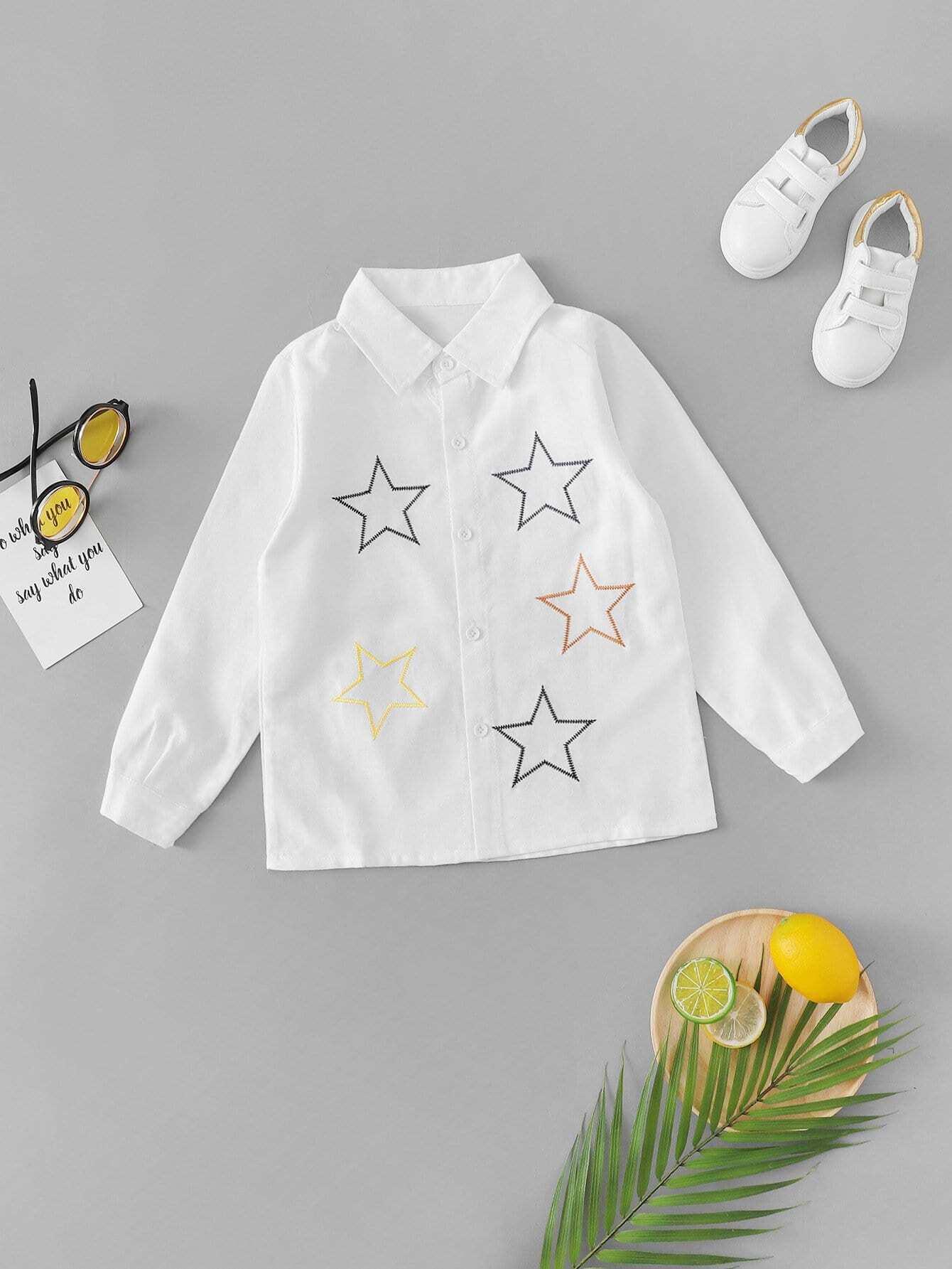 Boys Star Print Shirt