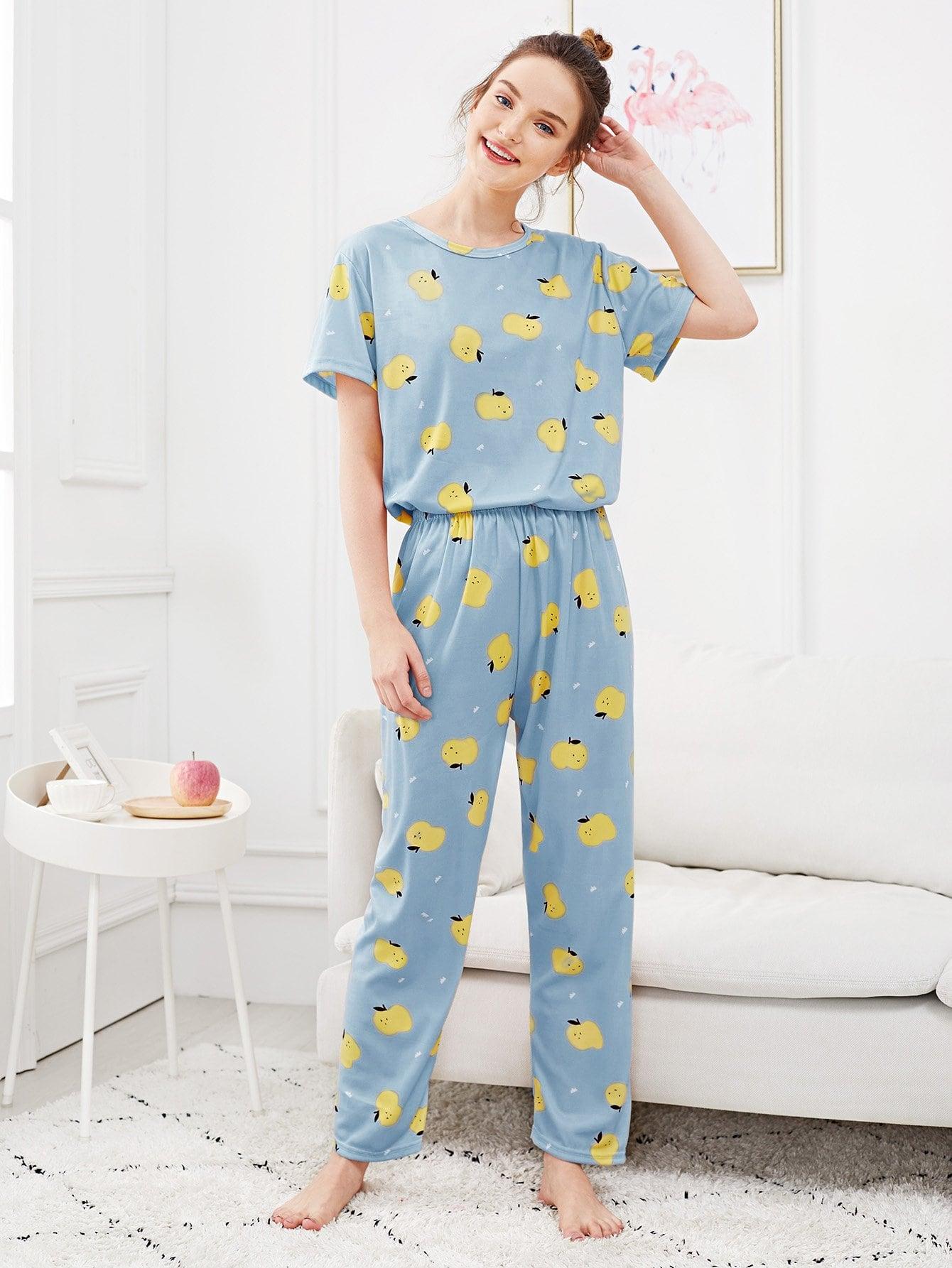 Pajama Set mit Apfel Muster