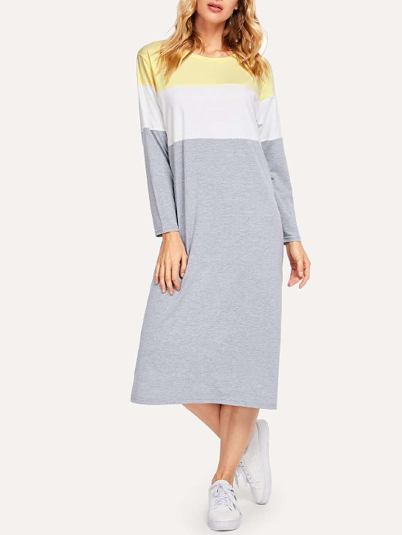 Colorblock Tee Dress футболка lonsdale lonsdale lo789emapkd3