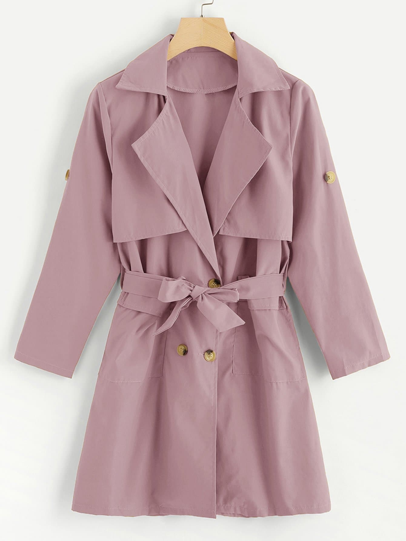 Self Tie Waist Tiered Coat колесные диски replay ki92 7 5x19 5 114 3 et50 d67 1 gmf