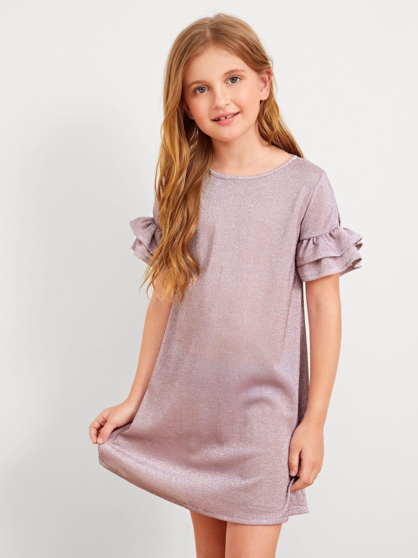 Купить Платье с блестками для девочек, Dariab, SheIn