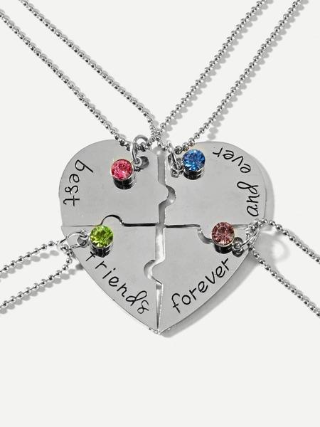 Splicable Rhinestone Necklace 4pcs