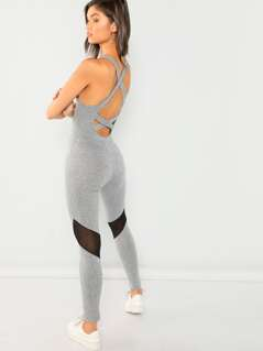 Plain Skinny Shell Jumpsuit