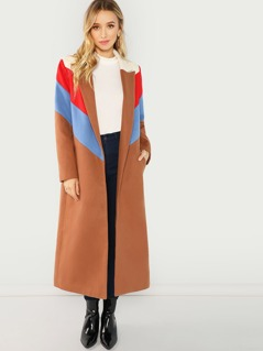 Color Block Longline Coat