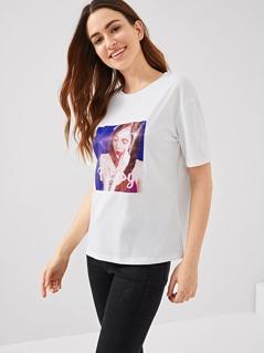 Figure Print T-shirt