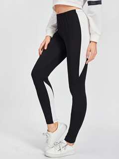 Color Block Skinny Leggings