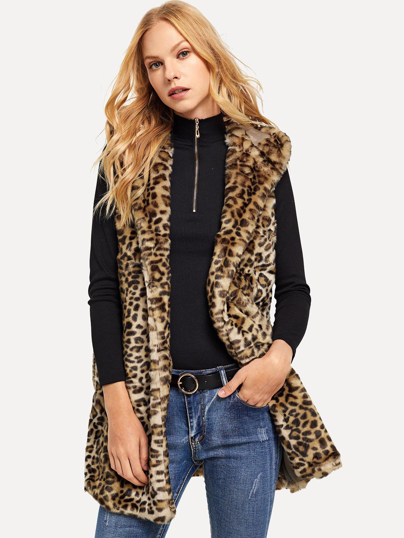 Купить Топ худи леопард, Denisa, SheIn