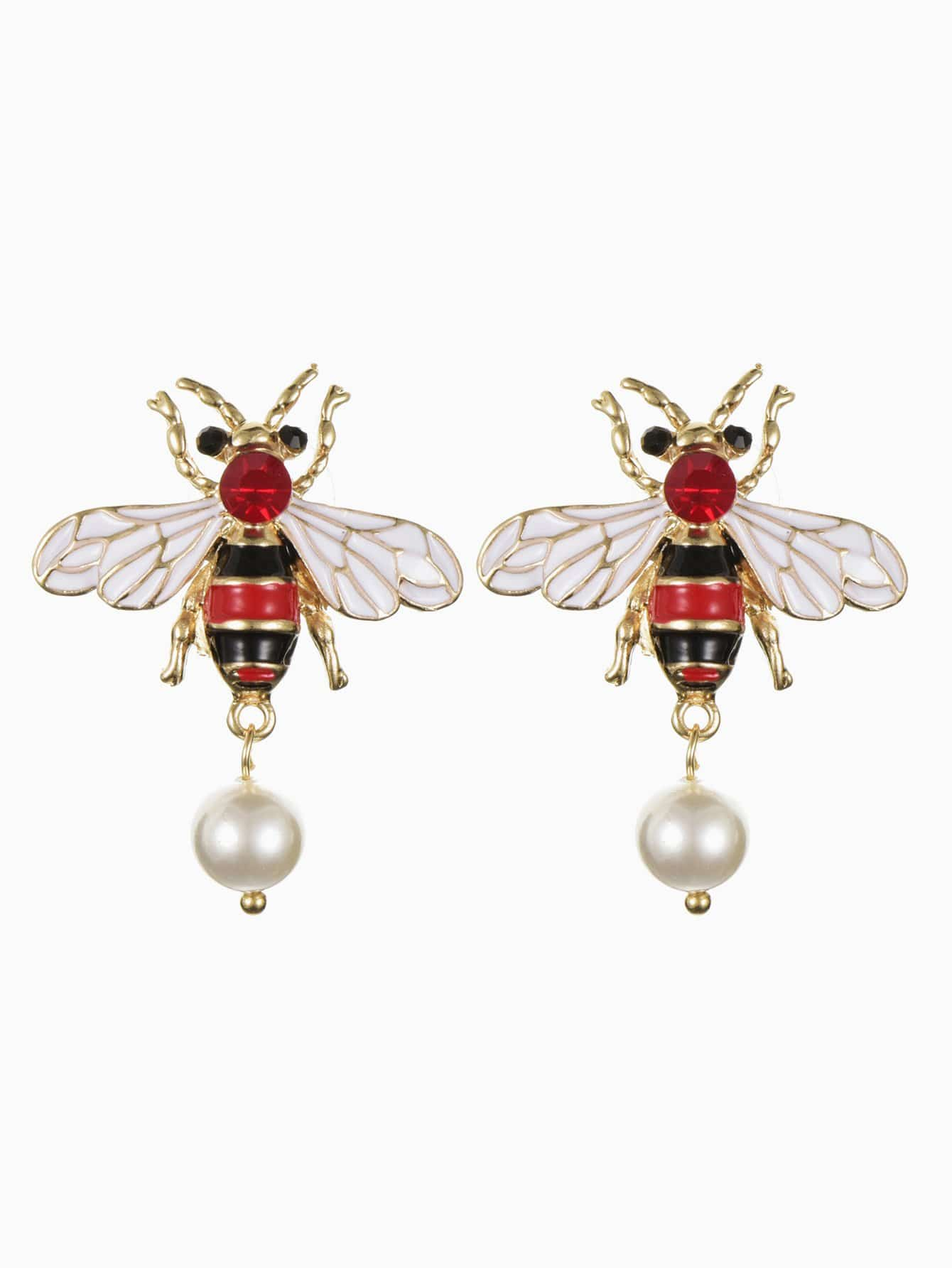 Girls Bee Shaped Earrings 1 Pair