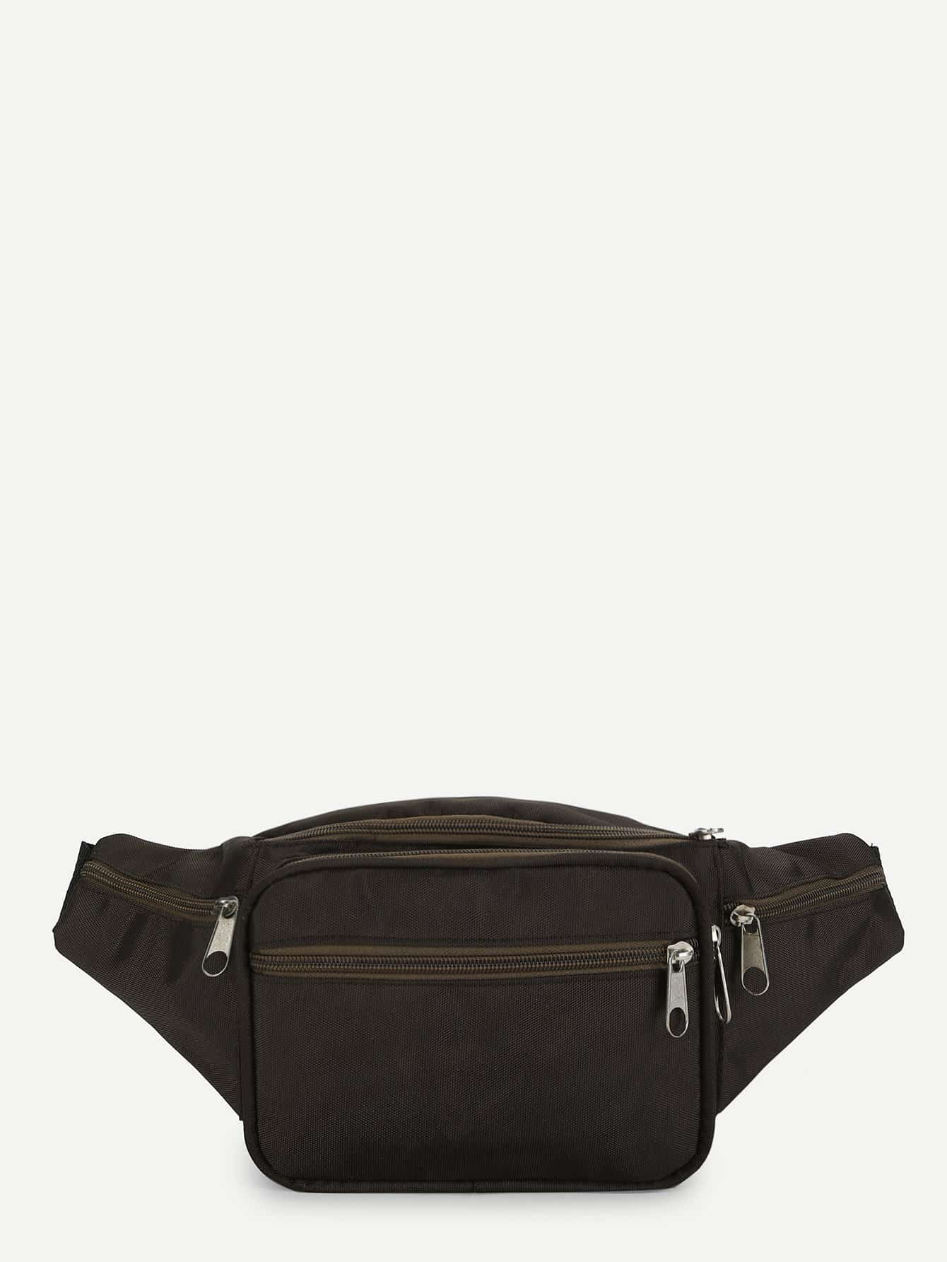 Zipper Detail Bum Bag