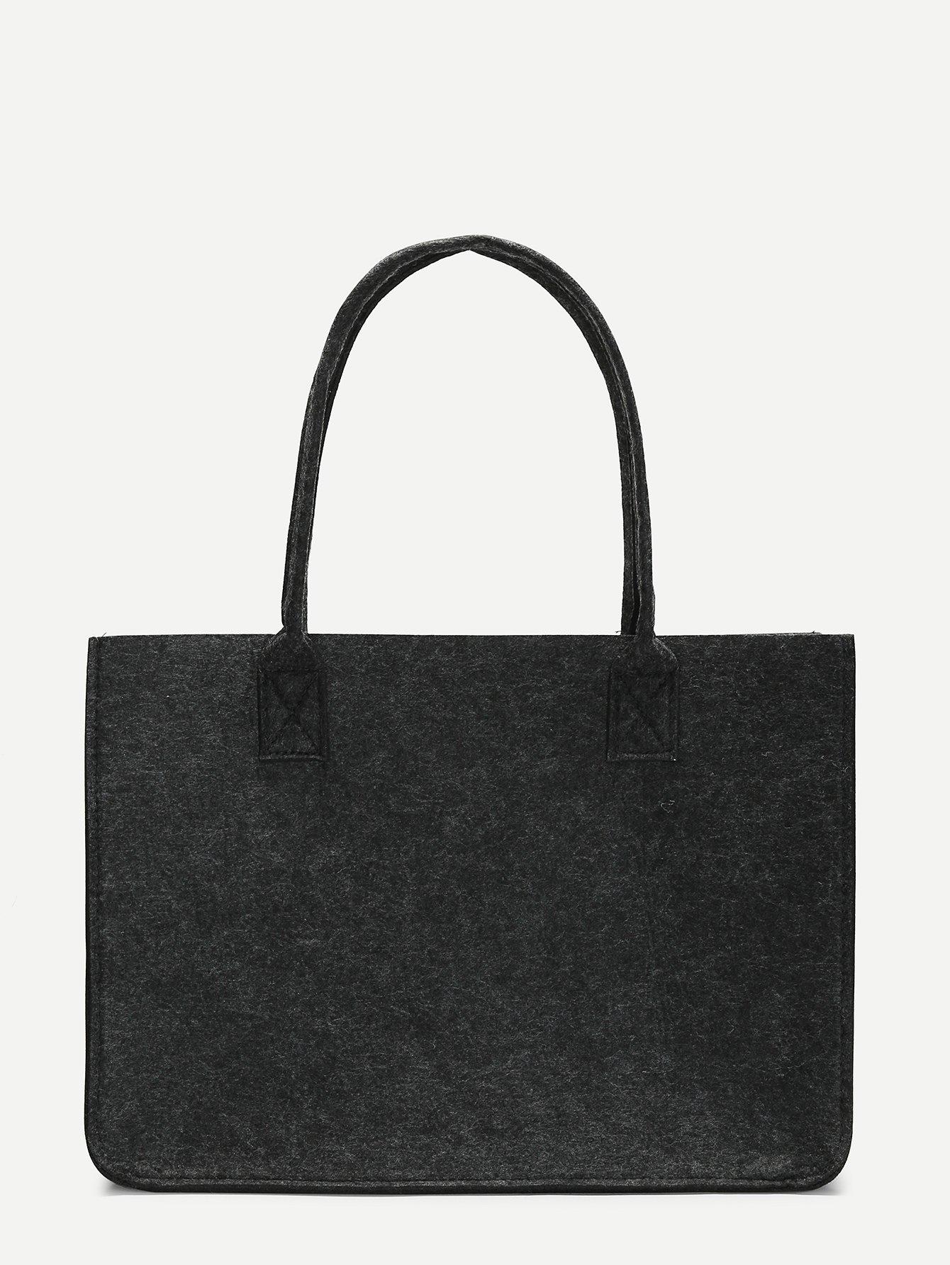 Minimalist Tweed Tote Bag
