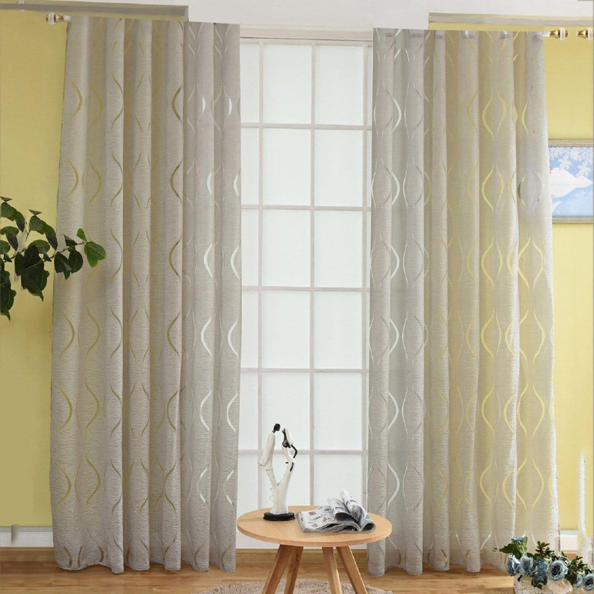 Geometrische print Eyelet Sheer Curtain 1pc