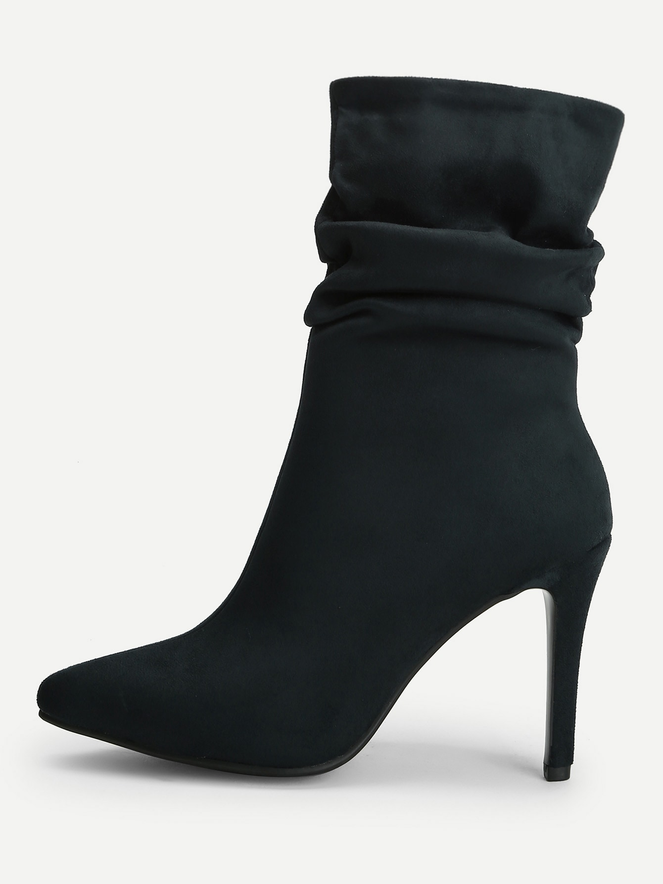 Купить Отсроконечные сапоги на высоких тонких каблуках, null, SheIn