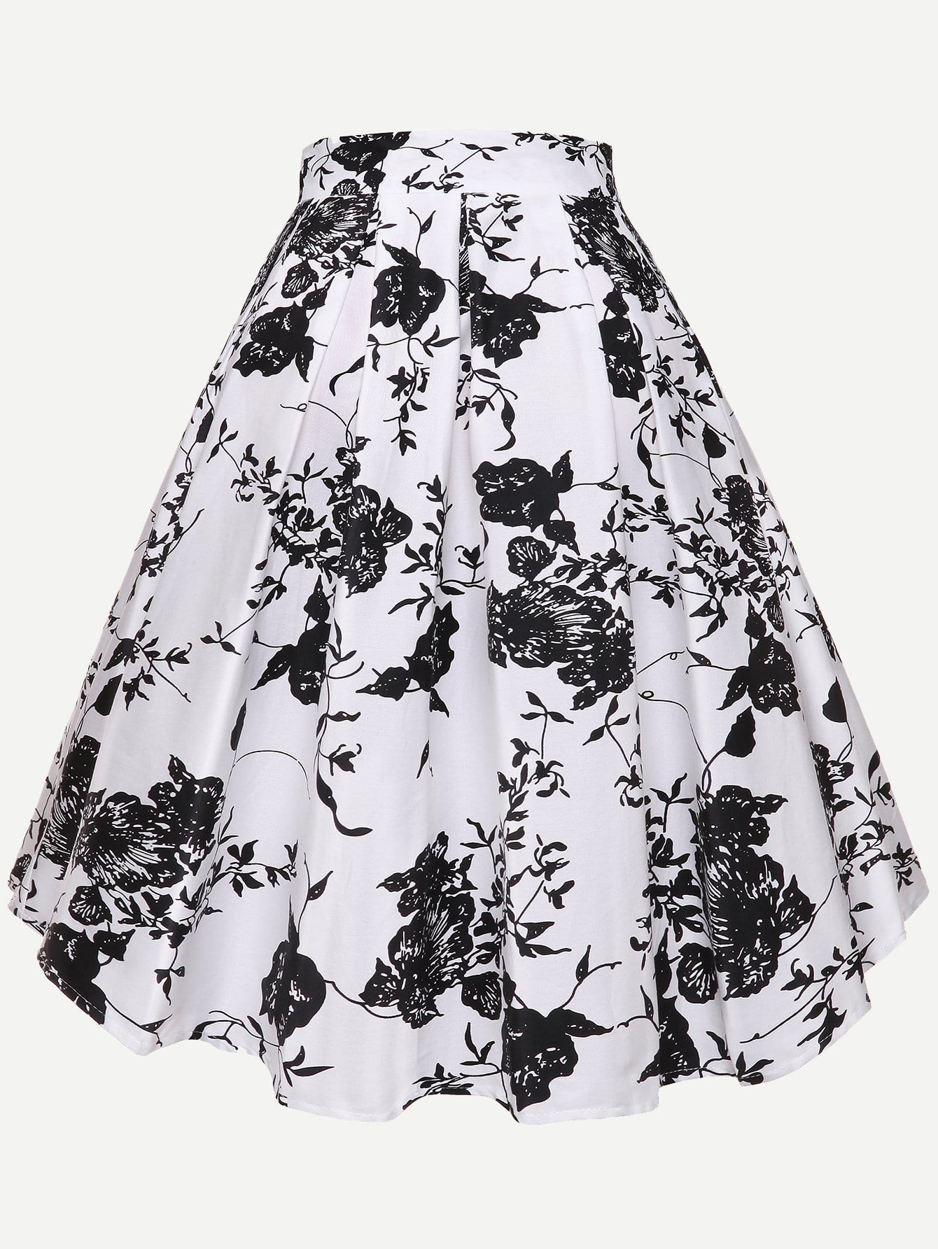Общая ситцевая плиссированная юбка