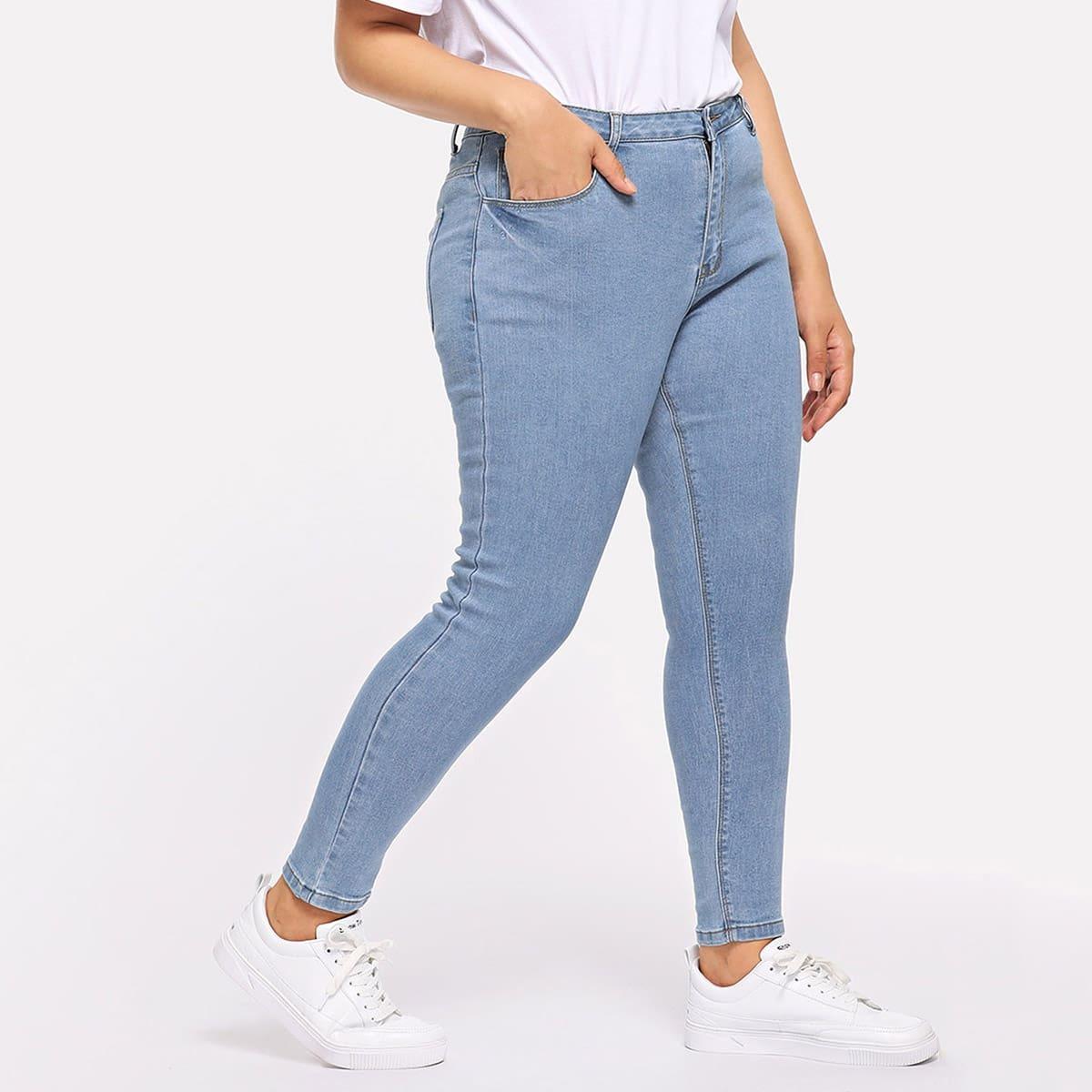 Plus Skinny Jeans met Zakken