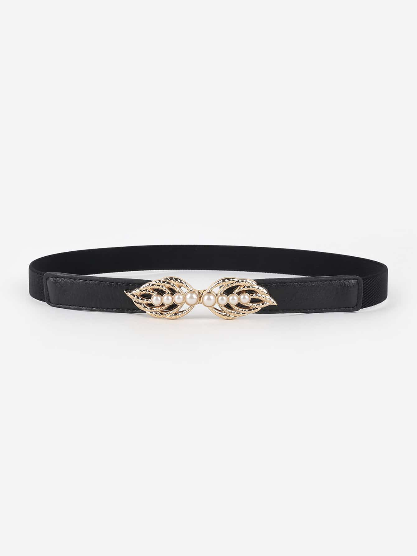 Faux Pearl Decorated Belt