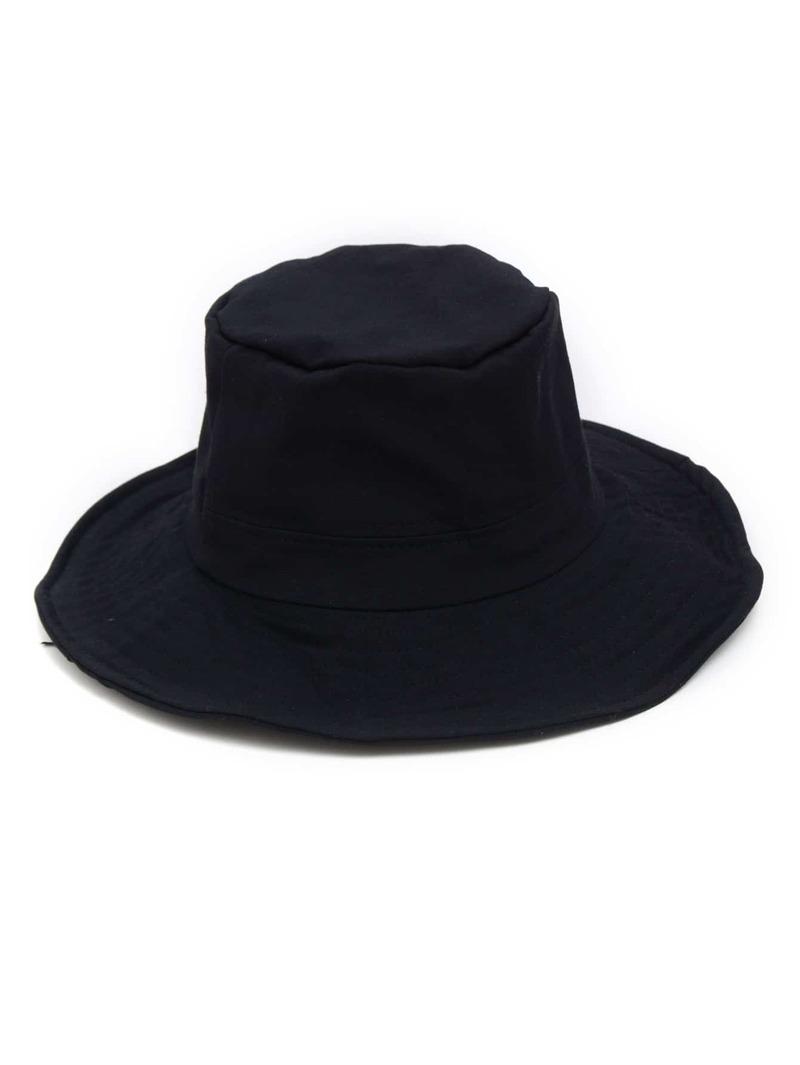 Wide Brim Bucket Hat, Black