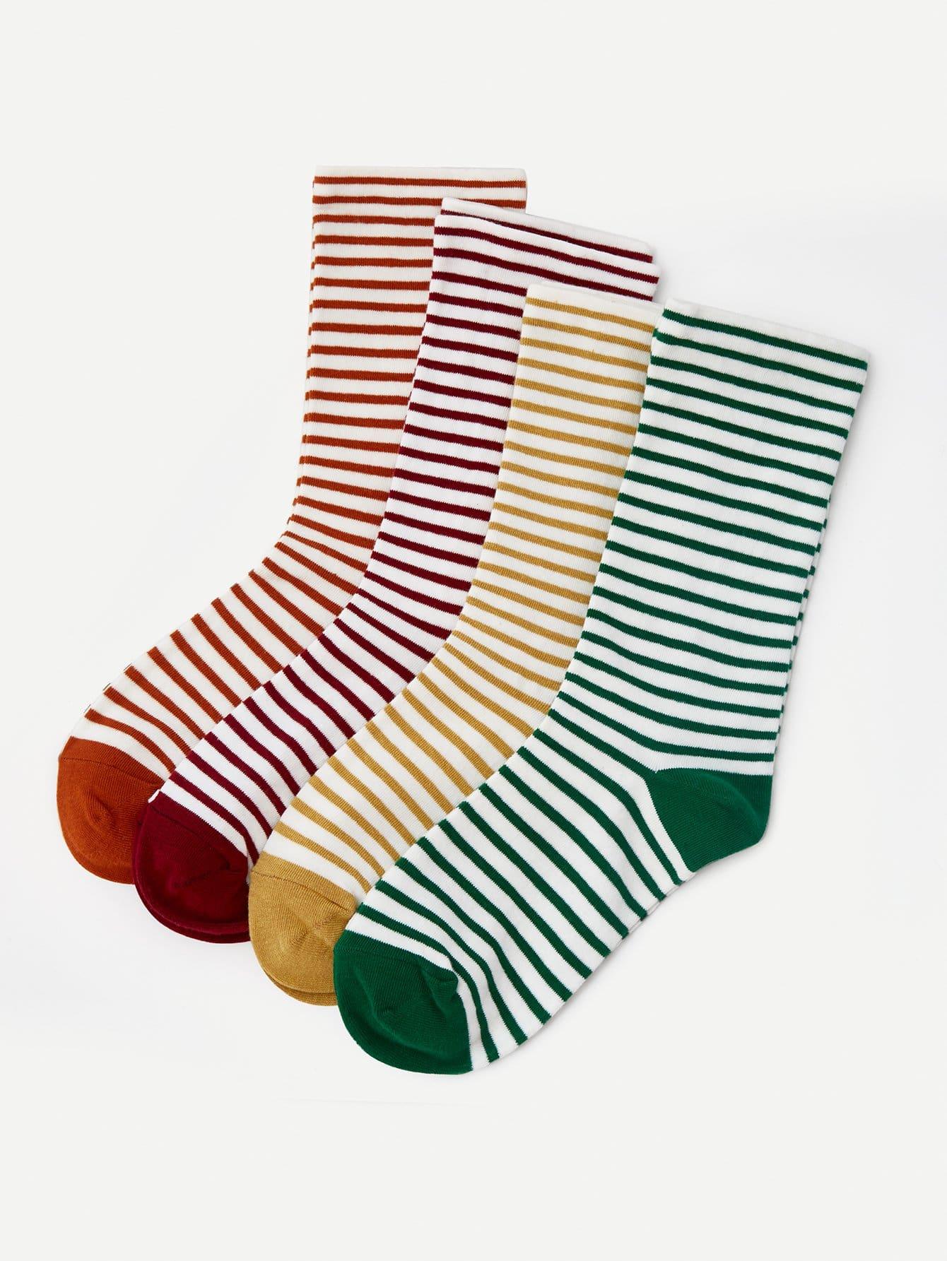 Striped Socks 4pairs