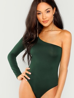 Slim Fitted One Shoulder Bodysuit