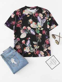 Short Sleeve Botanical Tee