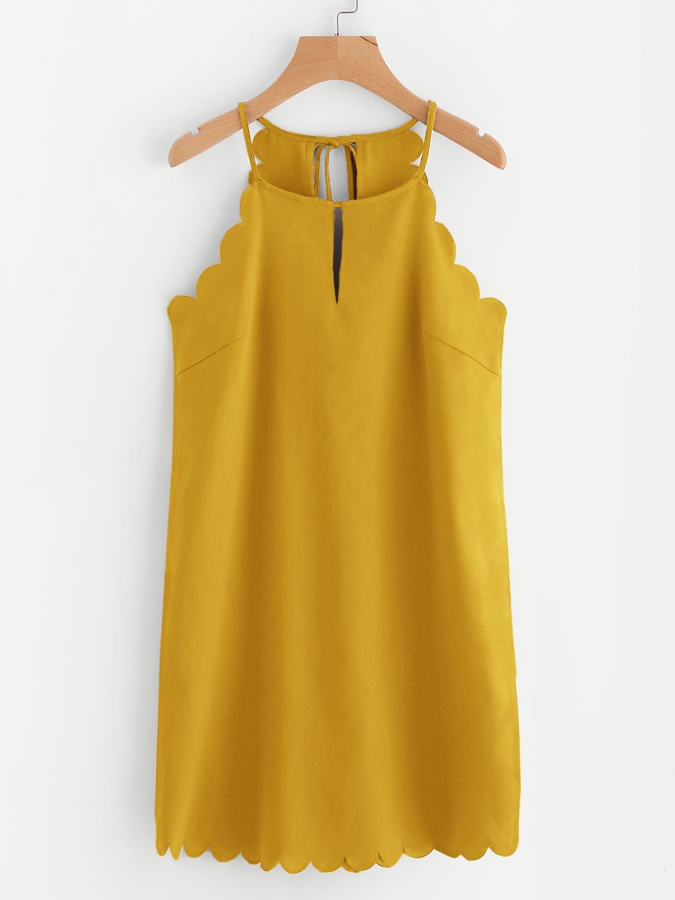 Купить Платье без рукавов с веерообразной отделкой, null, SheIn